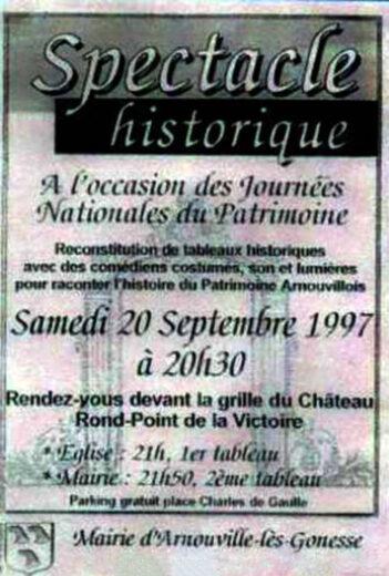 Les Journées Nationales du Patrimoine 1997