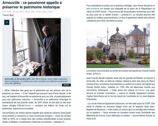 Un passionné appelle à préserver le patrimoine historique d'Arnouville - Le Parisien