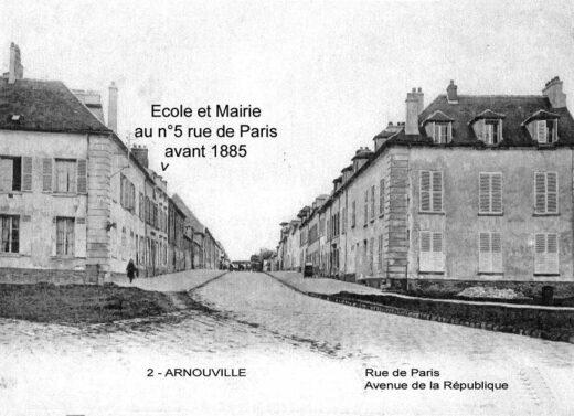 Mairie et école à Arnouville avant 1885, la première école