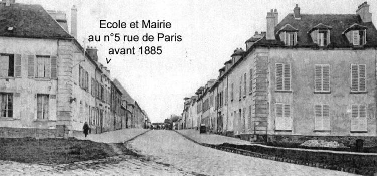 Ecole et Mairie à Arnouville avant 1885