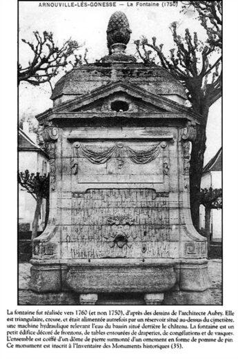 La Fontaine d'Arnouville voulu par le Comte de Machault