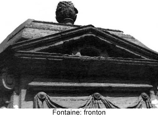 Fronton de la fontaine d'Arnouville