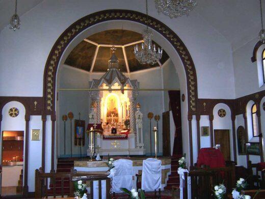 Chœur de l'église Sainte Croix de Varak .