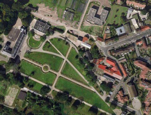 Le château et le Parc d'Arnouville vue du ciel