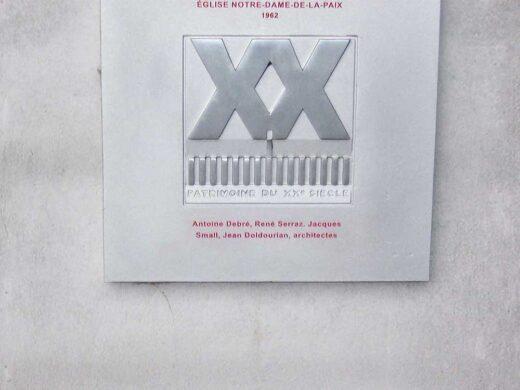 Le label du patrimoine pour Notre Dame de la Paix 1962
