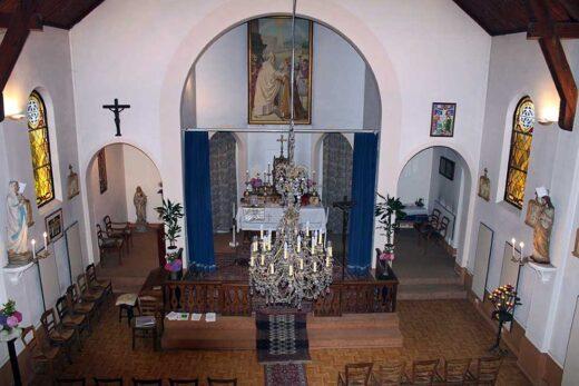 Vue d'au dessus de l'intérieur de l'église Saint Grégoire