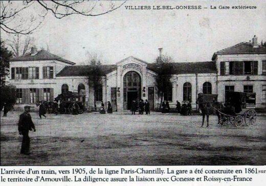 Gare Arnouville Villiers le Bel Gonesse au début