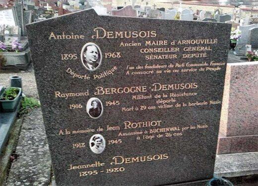 De plus près la tombe de la famille Demusois au cimetière d'Arnouville