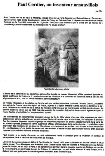 Paul Cordier, un inventeur arnouvillois