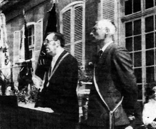 Jour du Jumelage : M.Anton Vogel et M Claude Bigel