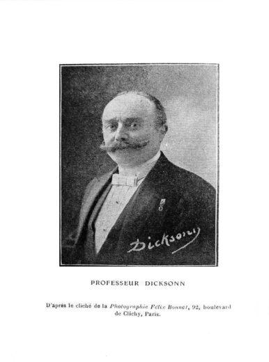 Professeur Dicksonn - Photographie de Félix Bonnet