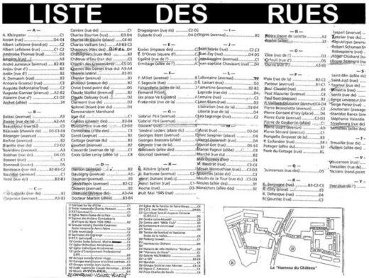 Arnouville : Liste des rues de la ville