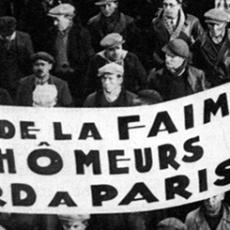 La lutte contre le chômage, au cours des années 30.