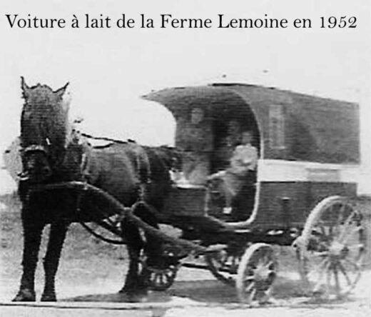 Voiture à lait de la ferme Lemoine en 1952