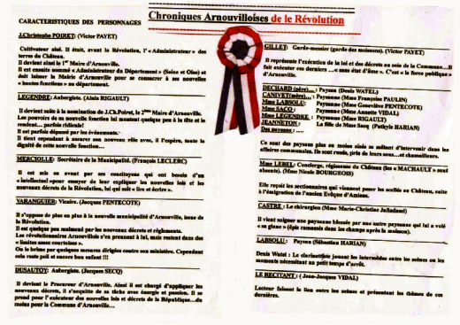 Chroniques Arnouvilloises de la Révolution