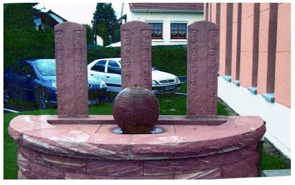 La nouvelle fontaine de la nouvelle mairie