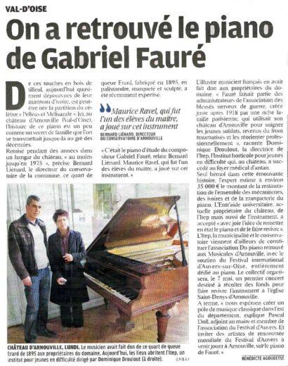 On a retrouvé le piano de Gabriel Fauré