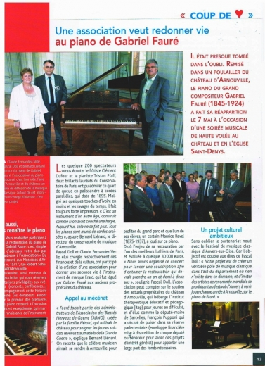 Une association veut redonner vie au piano de Gabriel Fauré
