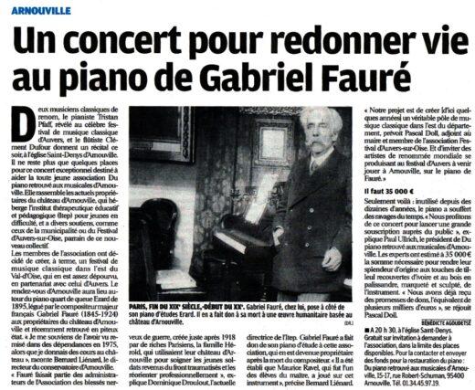 Un concert pour redonner vie au piano de Gabriel Fauré