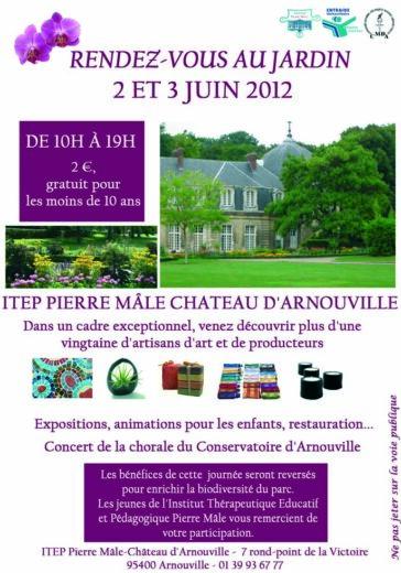 Affiche le Jardin du château d'Arnouville, exposition des Orchidées 2012