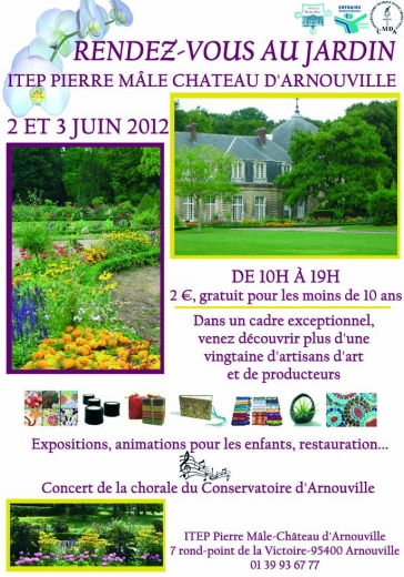 Affiche le Jardin du château d'Arnouville, exposition des Orchidées