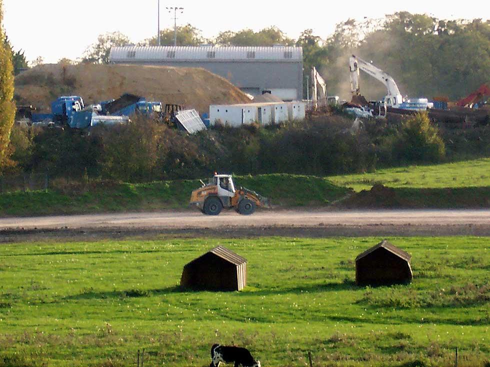 Le chantier vers Garges-lès-Gonesse