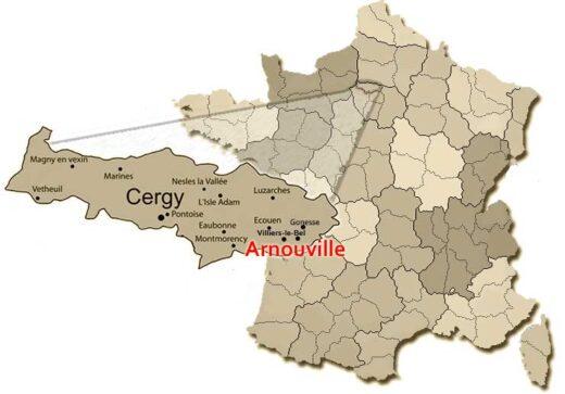 Carte Val d'Oise Arnouville