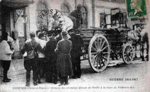 Premiers blessés qui arrivent à la gare de Villiers le Bel - Gonesse- Arnouville