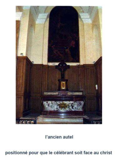 Ancien autel de l'église Saint-Denys