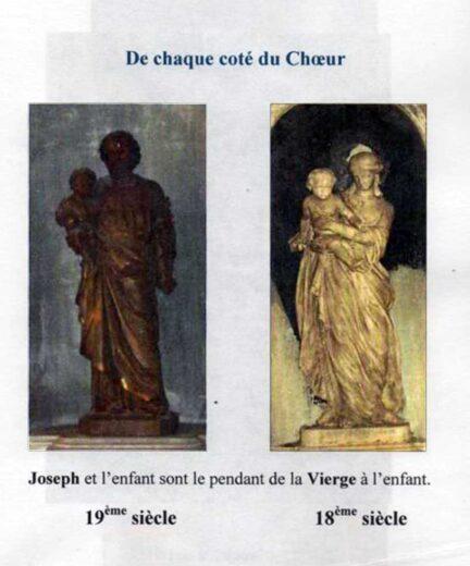 Statues de chaque côté du choeur Joseph et la Vierge