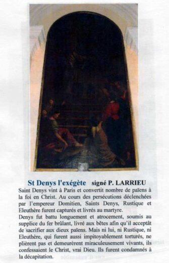 Tableau de Saint Denys l'exégète