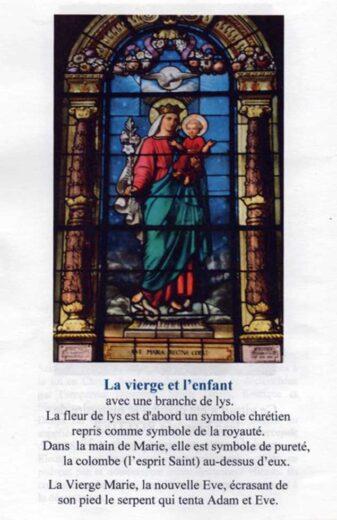Vitrail la vierge et l'enfant l'église Saint-Denys