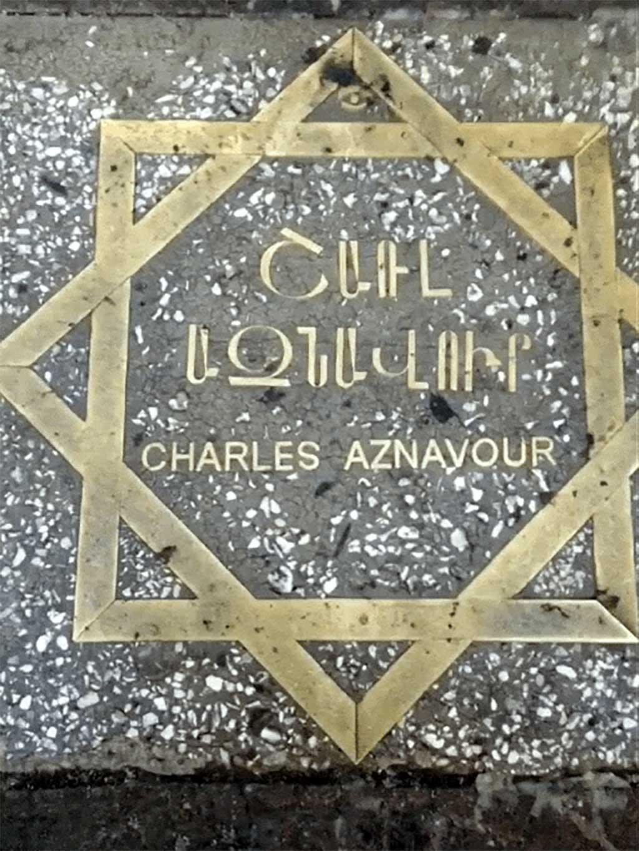 Le square Charles Aznavour à Erevan, en Arménie 01