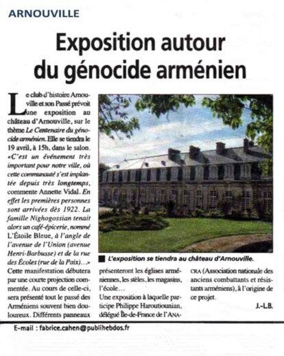 Exposition autour du génocide arménien, signé de J-L-B.