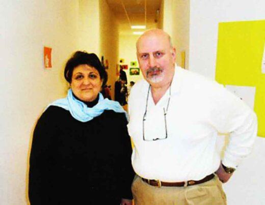 Ecole Hrant Dink - Directrice Nadia Yapar et le président Kevor Apkaryan