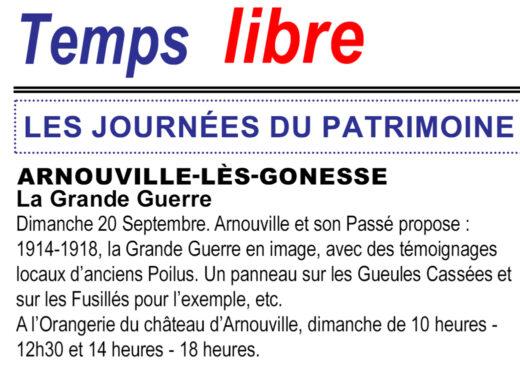 Temps Libre - M. Baduel - Article sur l'Exposition