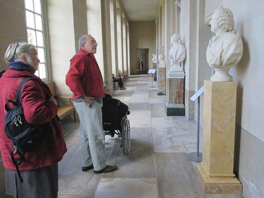 La galerie des bustes au château de Compiègne