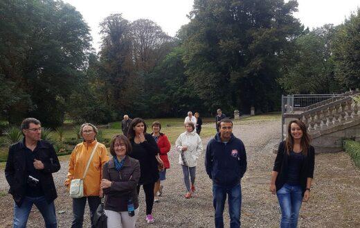 Les visiteurs du parc, du salon, de la Chapelle, de L'Orangerie