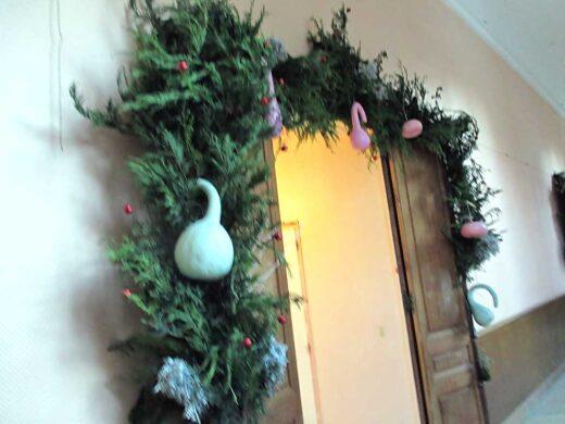 Une décoration faite par les élèves pour le Marché de Noël