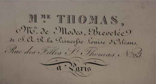 Carte de visite de MmeThomas