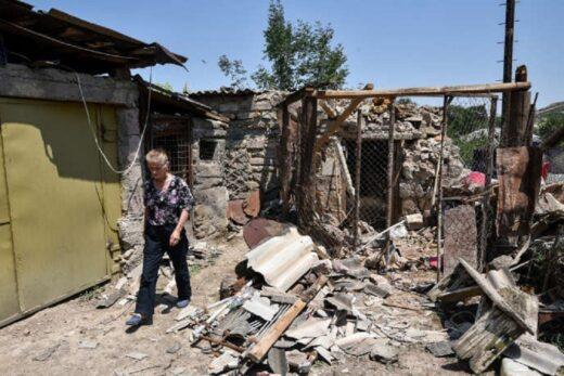 Un village arménien détruit.