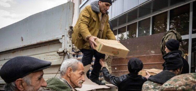 arrivée de l'aide humanitaire